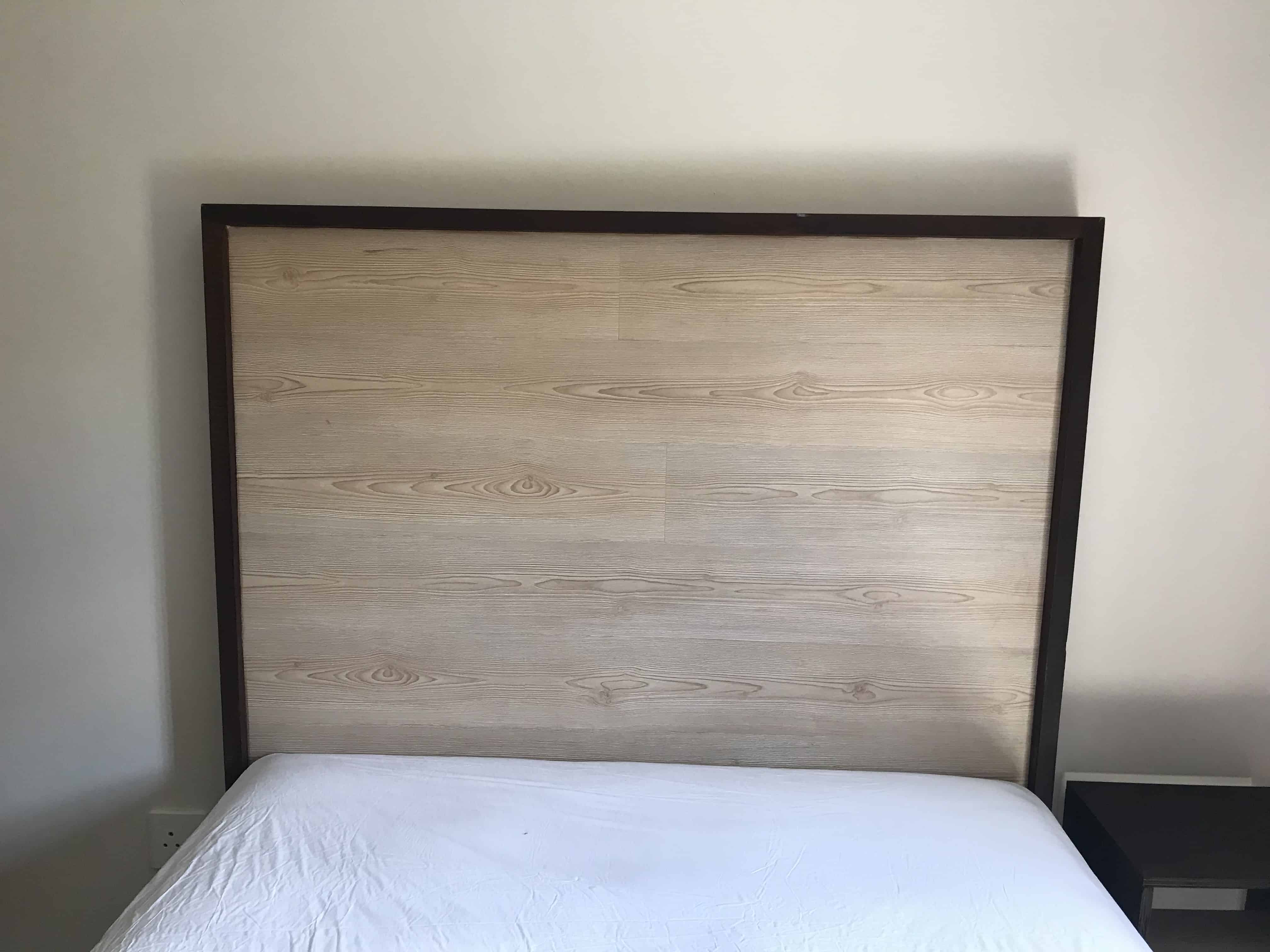 Laminate Headboard With Solid Edging