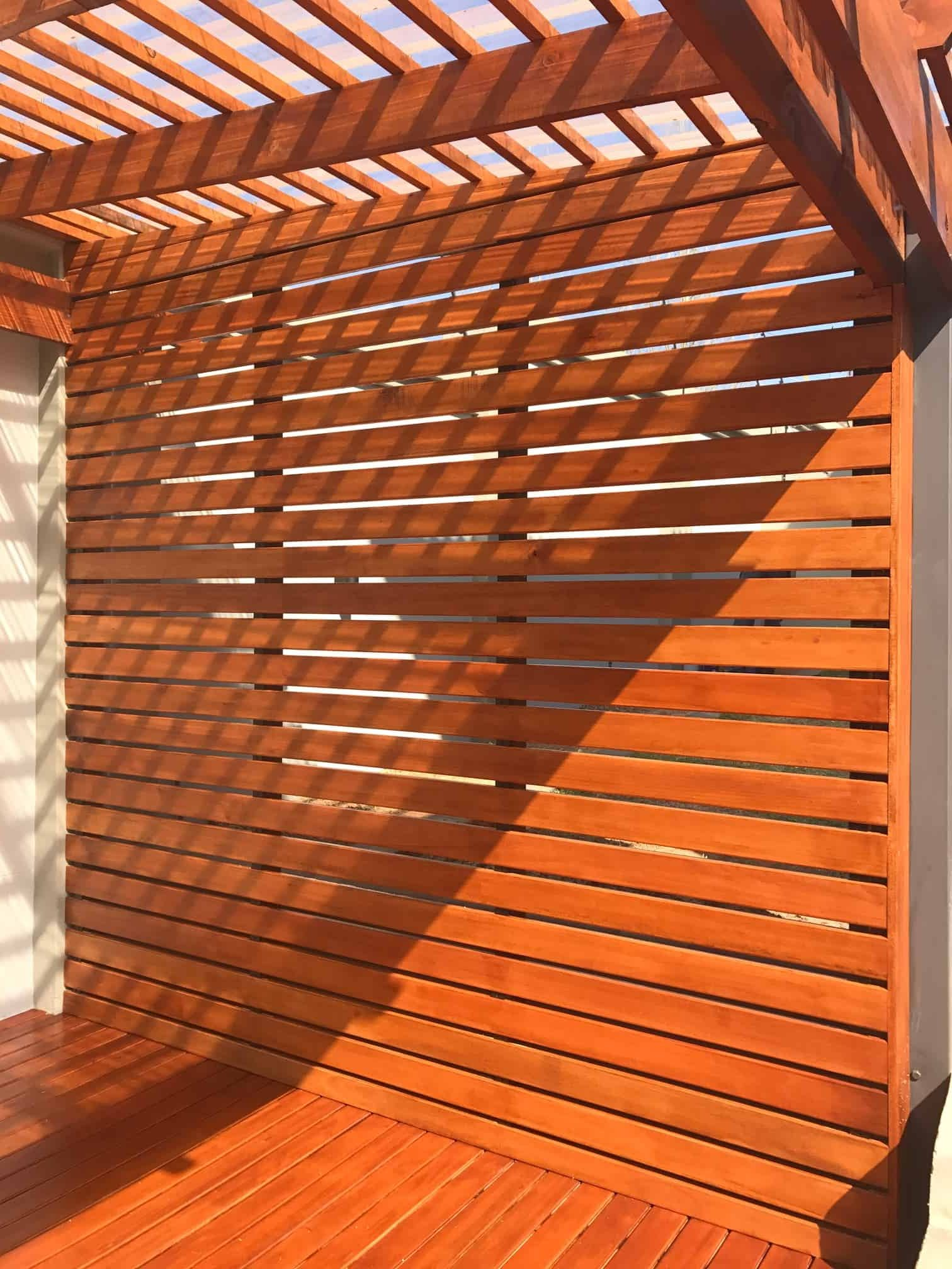 Pine Screen And Pergola