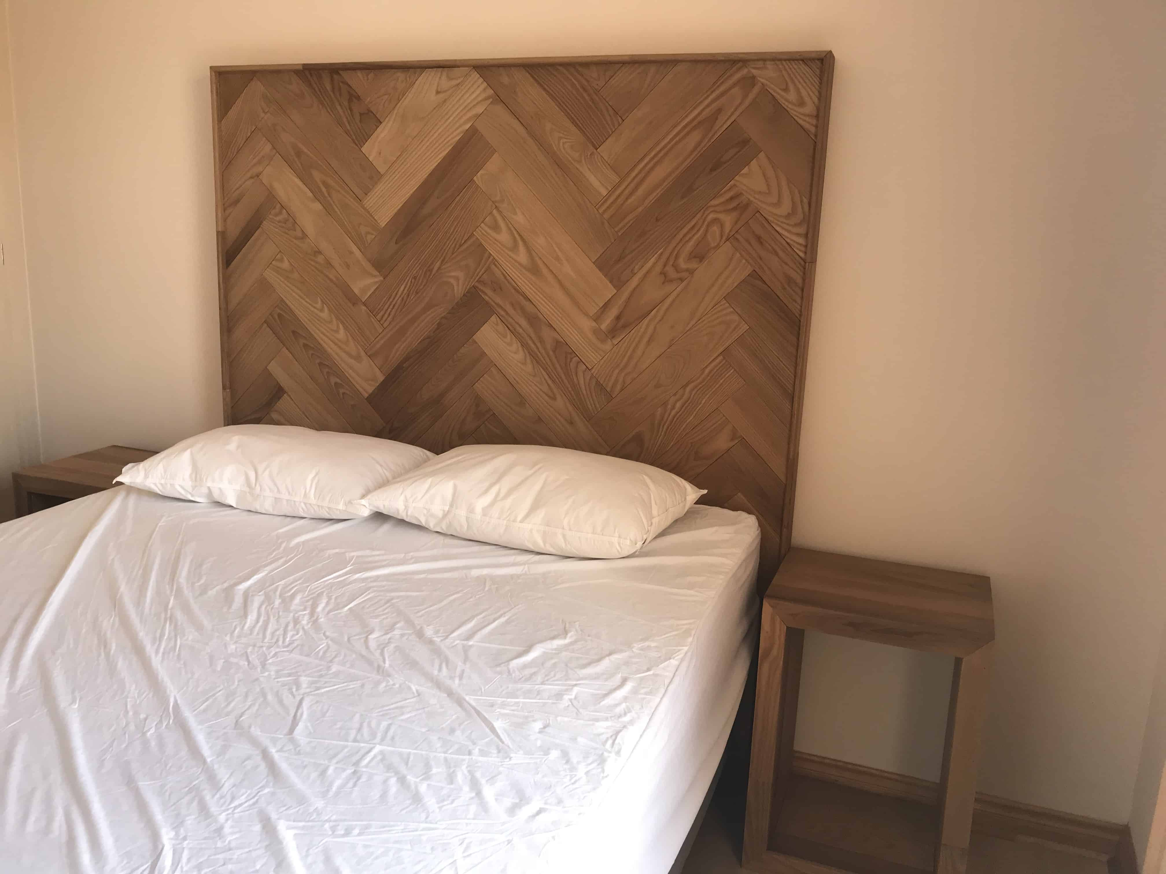 Thermal Ash Head Board And Side Table